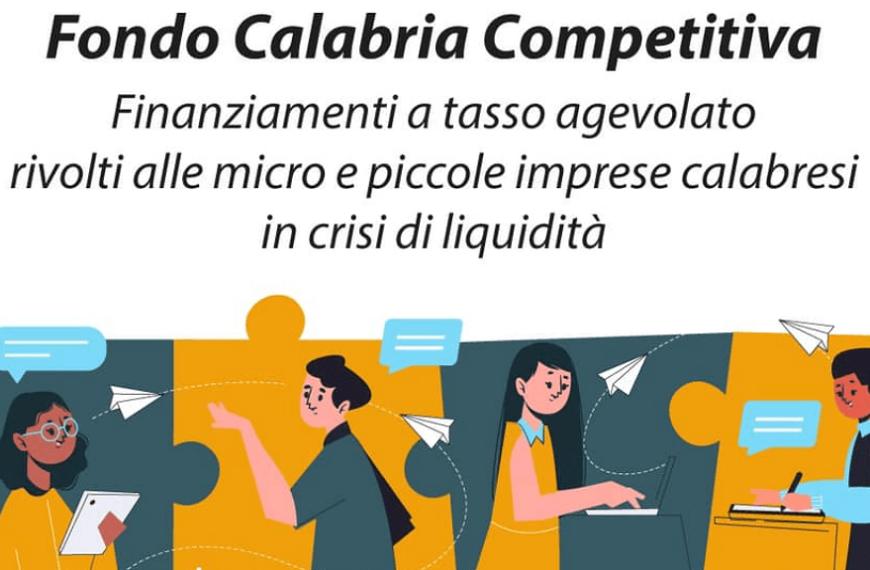 Fondo Calabria Competitiva (Fcc). Finanziamenti alle micro e piccole imprese