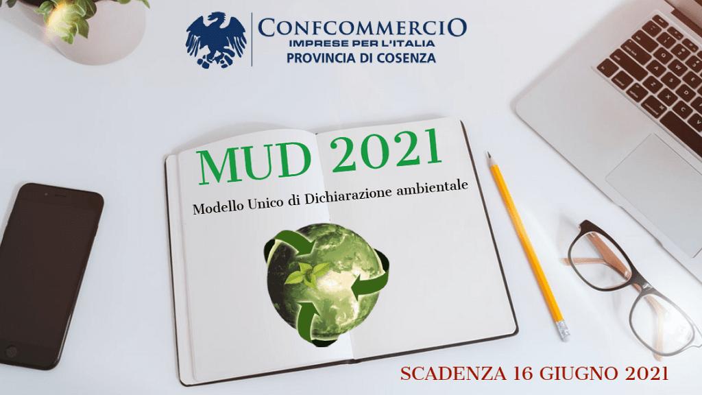Modello unico di dichiarazione ambientale (MUD) 2021