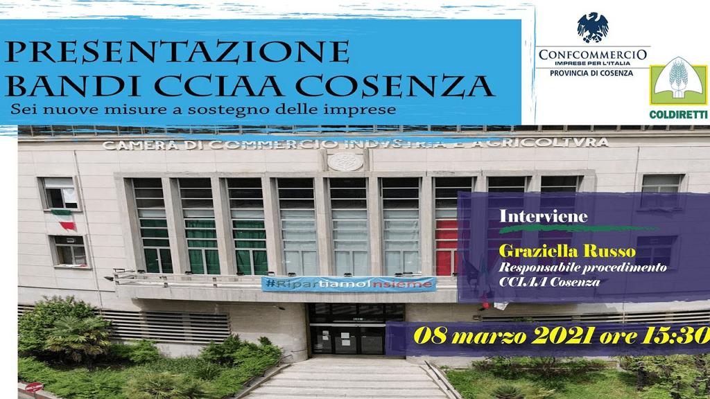 Confcommercio Cosenza. Presentazione di misure a sostegno delle imprese