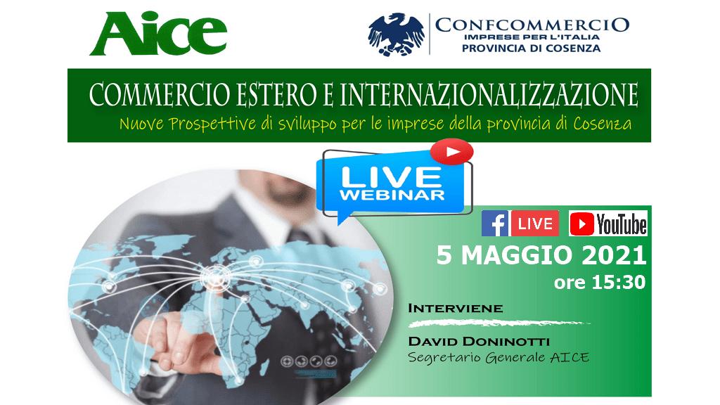 Webinar su Commercio estero e internazionalizzazione