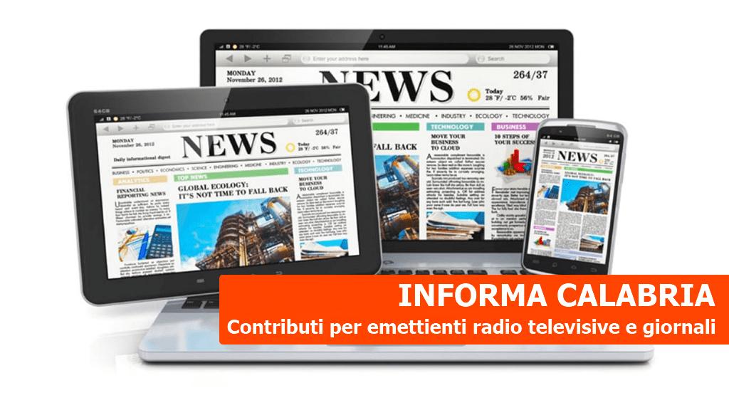 Informa Calabria. Contributi a emittenti radiotelevisive e testate giornalistiche
