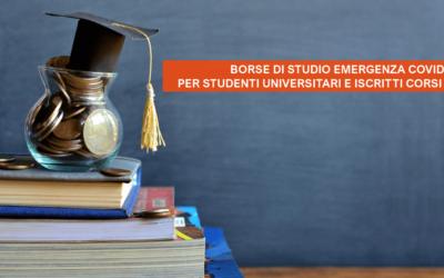 Borse di studio per studenti (universitari o iscritti a corsi ITS) in condizioni svantaggiate