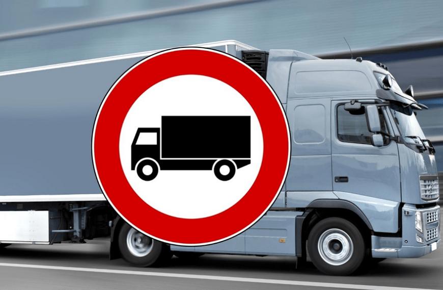 Limitazione alla circolazione per i mezzi pesanti sulla ss18