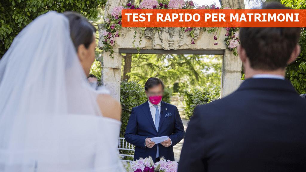 Test antigenico rapido per accedere a cerimonie ed eventi