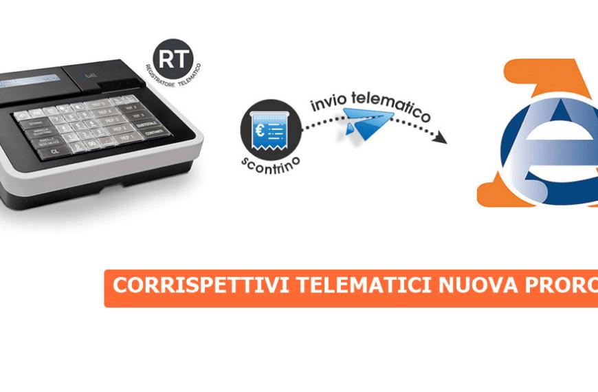 Proroga adeguamento dei Registratori Telematici per invio corrispettivi giornalieri